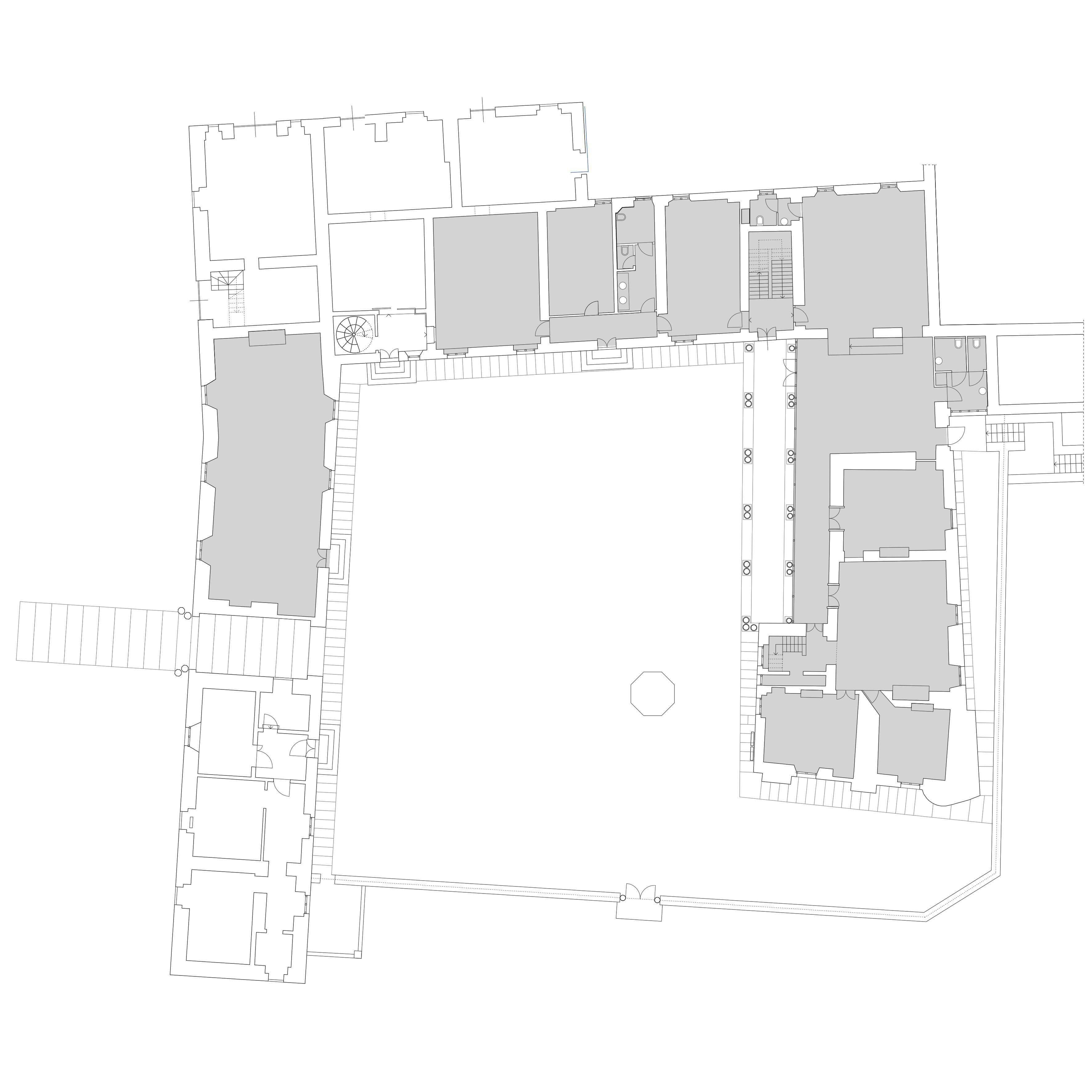 ortalliverrier_biblioteca nel castello_pianta generale